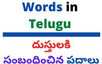 Clothes Related Words in Telugu దుస్తులకి సంబంధించిన పదాలు తెలుగులో
